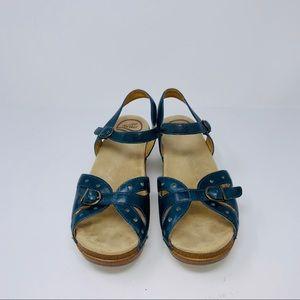 Dansko Seasons Blue Open Toe Ankle Strap Sandals